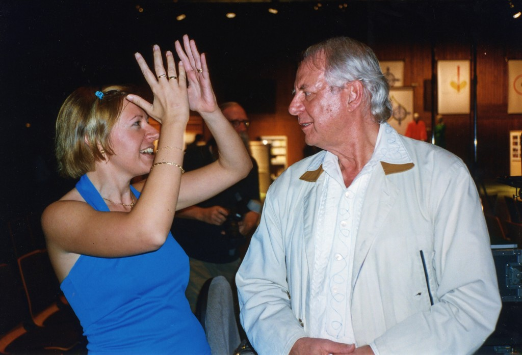 Ivana Medic and Karlheinz Stockhausen 2004